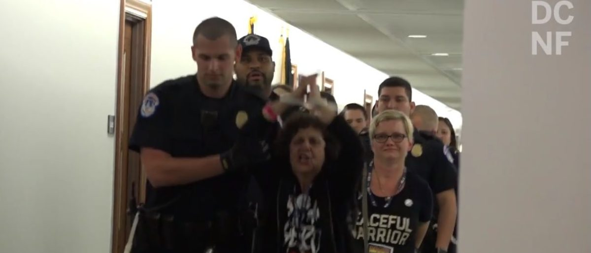 Capitol Hill police arrested dozens of protesters on Friday in the Dirksen Senate Building who oppose the confirmation of Supreme Court nominee Judge Brett Kavanaugh.