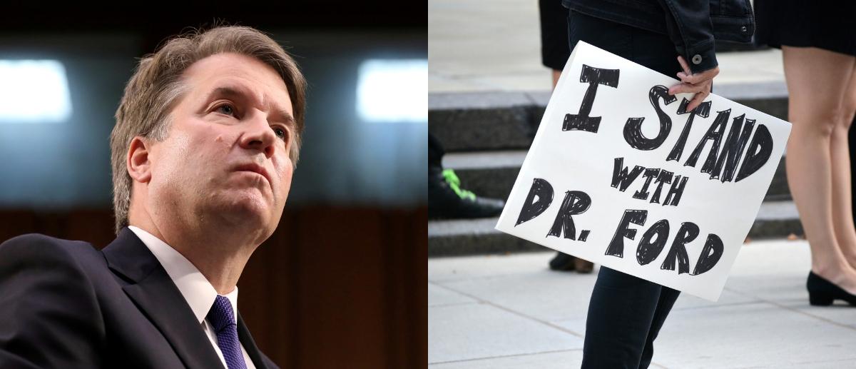 Pictured is Judge Brett Kavanaugh on the left. (Reuters/Shutterstock)