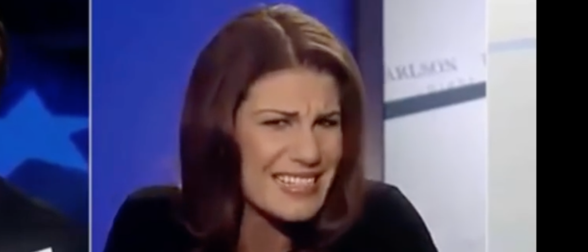 "Pictured is Lauren Duca on ""Tucker Carlson Tonight."" (YouTube screenshot/Mark F)"