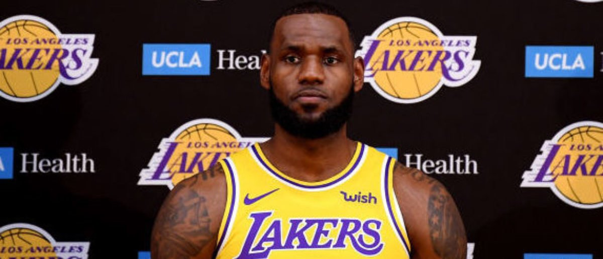 EL SEGUNDO, CA - SEPTEMBER 24: LeBron James of the Los Angeles Lakers during the Los Angeles Lakers Media Day at the UCLA Health Training Center on September 24, 2018 in El Segundo, California. (Photo by Harry How/Getty Images)