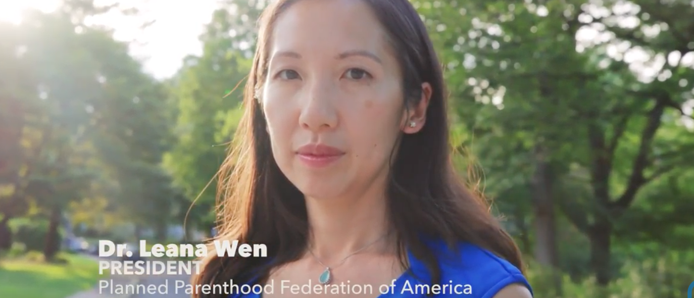 Leana Wen (Youtube screenshot/Planned Parenthood)