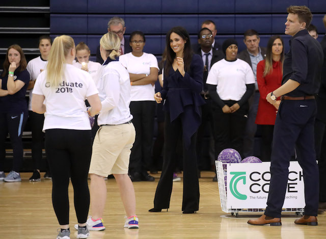 Meghan, Duchess of Sussex attends the Coach Core Awards held at Loughborough University on September 24, 2018 in Loughborough, England. (Photo by Chris Jackson/Getty Images)