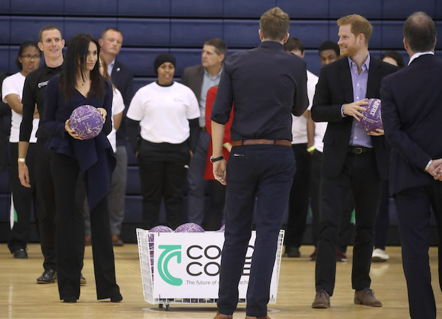 Prince Harry, Duke of Sussex and Meghan, Duchess of Sussex attend the Coach Core Awards held at Loughborough University on September 24, 2018 in Loughborough, England. (Photo by Chris Jackson/Getty Images)