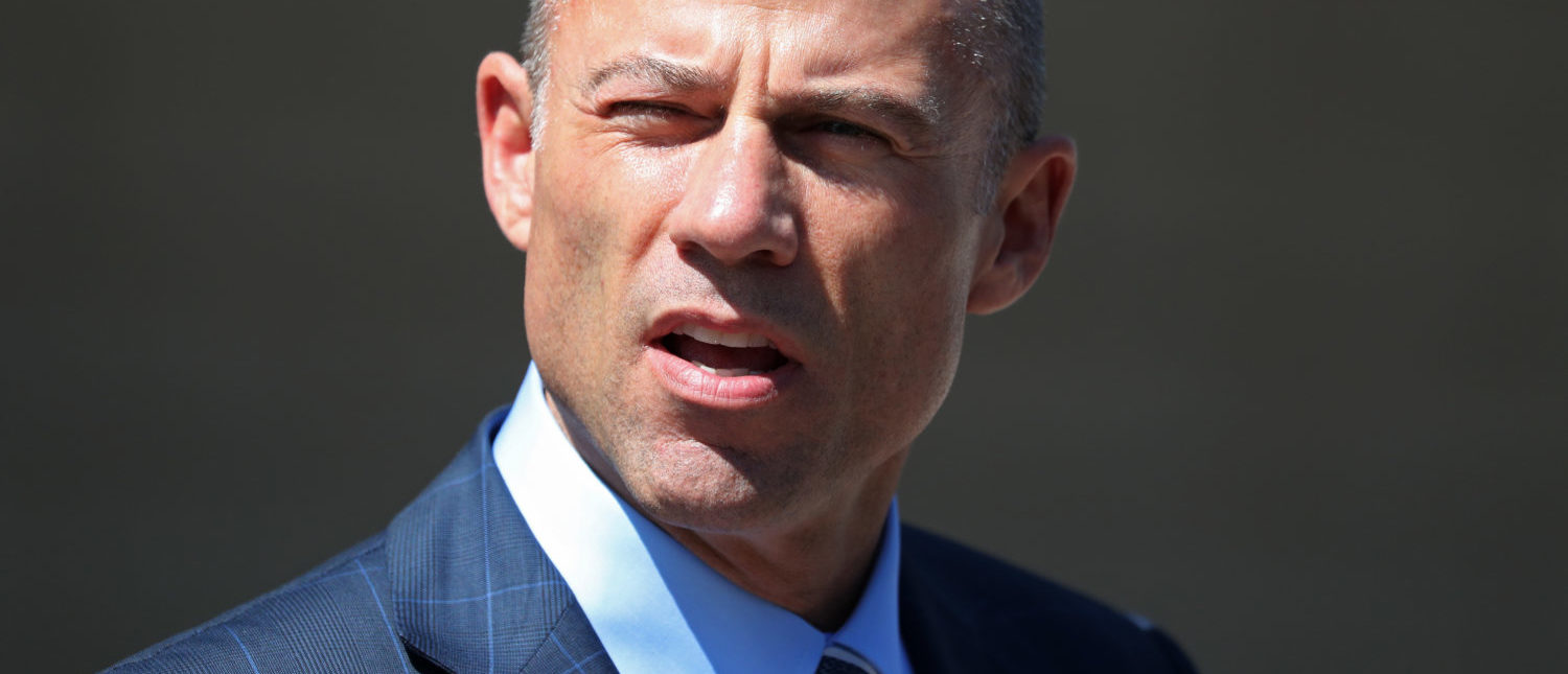 Michael Avenatti, lawyer for adult-film actress Stephanie Clifford, also known as Stormy Daniels, speaks to the media outside the U.S. District Court for the Central District of California after hearing regarding Clifford's case against Donald J. Trump in Los Angeles, California, April 20, 2018. REUTERS/Lucy Nicholson