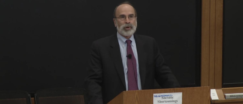 Michael Bromwich speaks at Harvard Law School in 2016. (YouTube screenshot/Harvard Law School)