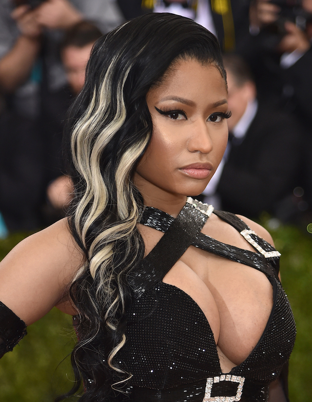 Nicki Minaj attends the 'Manus x Machina: Fashion In An Age Of Technology' Costume Institute Gala at Metropolitan Museum of Art on May 2, 2016 in New York City. (Photo by Dimitrios Kambouris/Getty Images)
