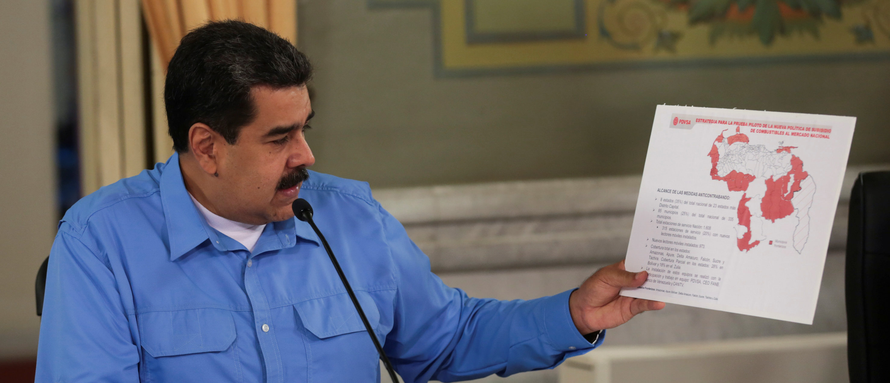Venezuela's President Nicolas Maduro speaks during a meeting with ministers at Miraflores Palace in Caracas, Venezuela September 3, 2018. Miraflores Palace/Handout via REUTERS ATTENTION EDITORS - THIS PICTURE WAS PROVIDED BY A THIRD PARTY. - RC1CF3471950