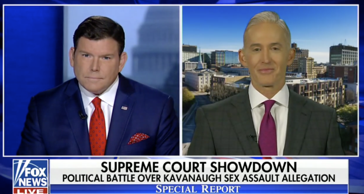 Gowdy Questions Why Kavanaugh Is Guilty Until Proven Innocent