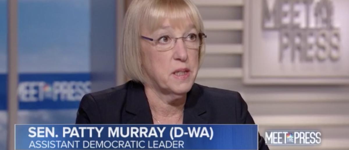 Sen. Patty Murray speaks to Meet the Press on Sept. 23, 2018. (Screenshot/NBC)