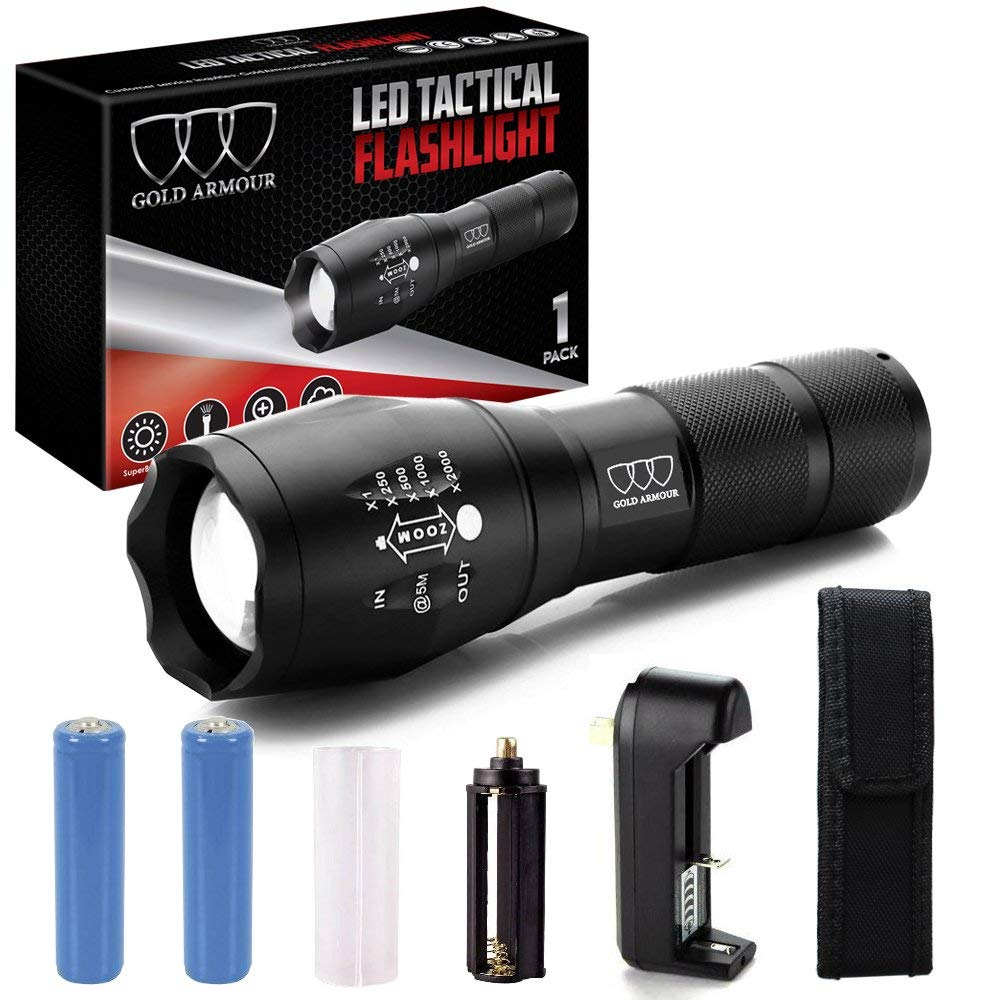 Normally $50, this tactical flashlight is 78 percent off (Photo via Amazon)
