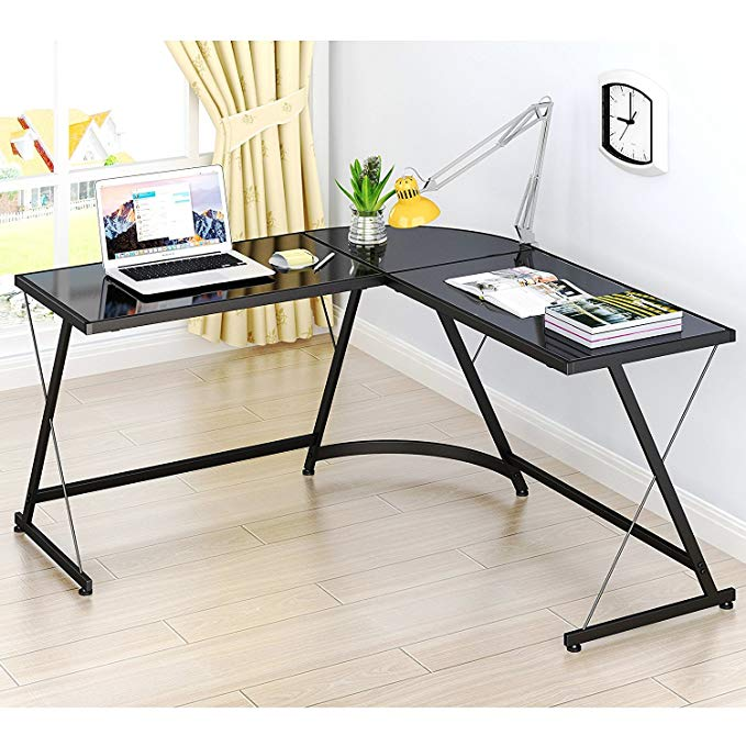 Normally $140, this corner desk is 39 percent off (Photo via Amazon)