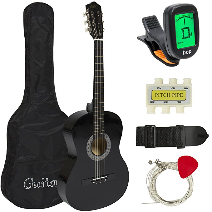 Normally $75, this beginners guitar is 47 percent off today (Photo via Amazon)