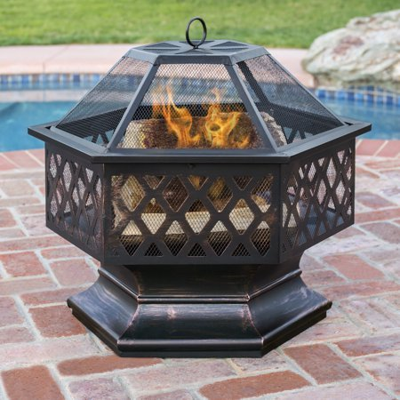 Normally $160, this fire pit is 53 percent off (Photo via Walmart)