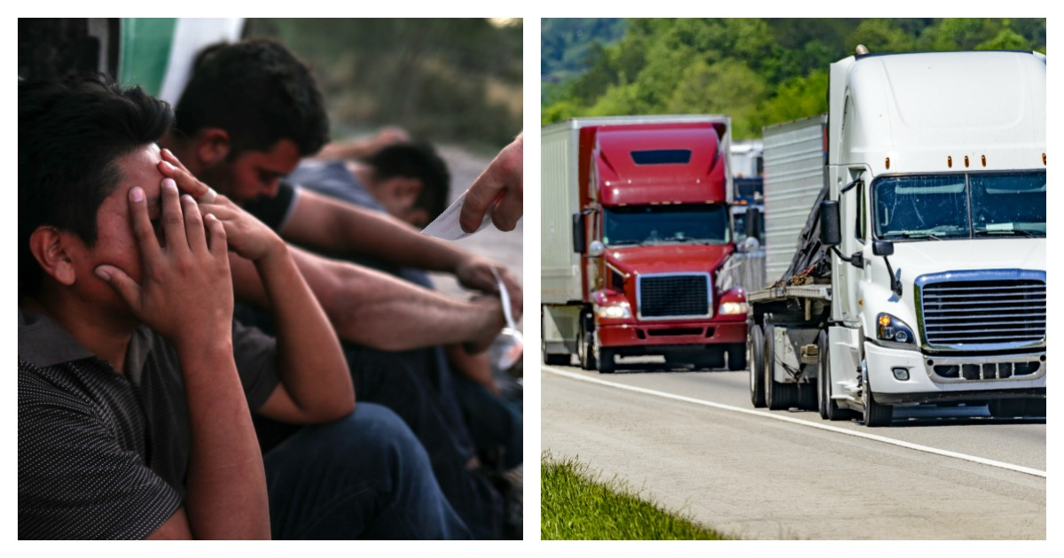 Border Patrol found 55 illegal immigrants in a hot, stuffy tractor trailer. Left, REUTERS/Adrees Latif/ Right, SHUTTERSTOCK/ Carolyn Franks