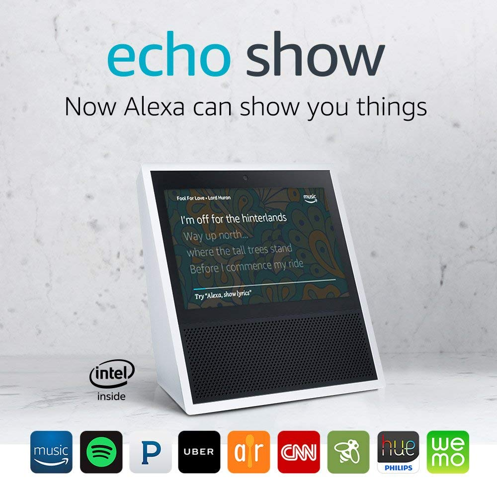 Normally $230, the Echo Show is 43 percent off (Photo via Amazon)