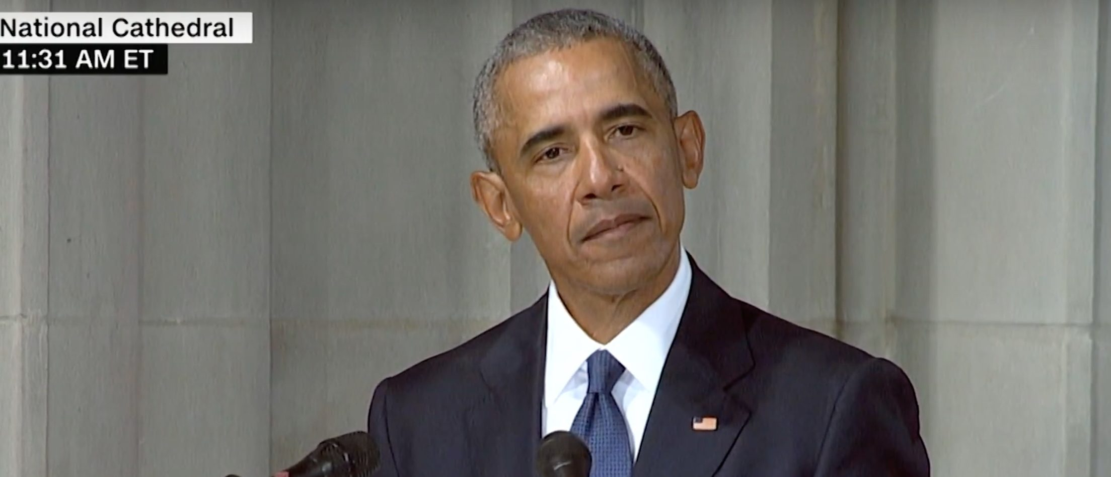 Obama delivers eulogy at service for Senator John McCain./Screenshot