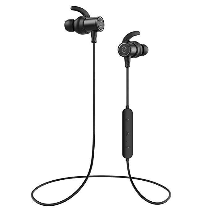 Normally $40, this bluetooth earbuds are 42 percent off today (Photo via Amazon)