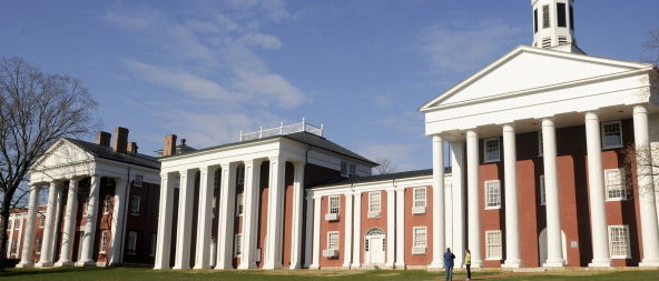Campus Buildings, Washington And Lee College, Virginia. (Photo by Education Images/UIG via Getty Images)