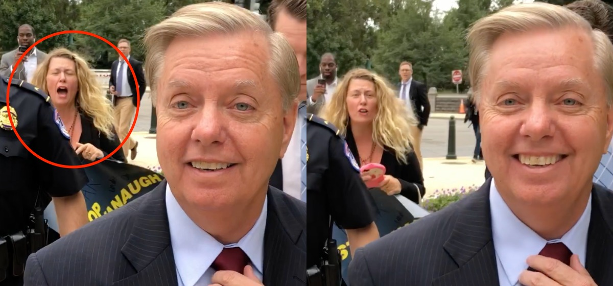 Protesters Chase Graham To His Car Saying They Will Remove Him From Office — Lindsey Responds