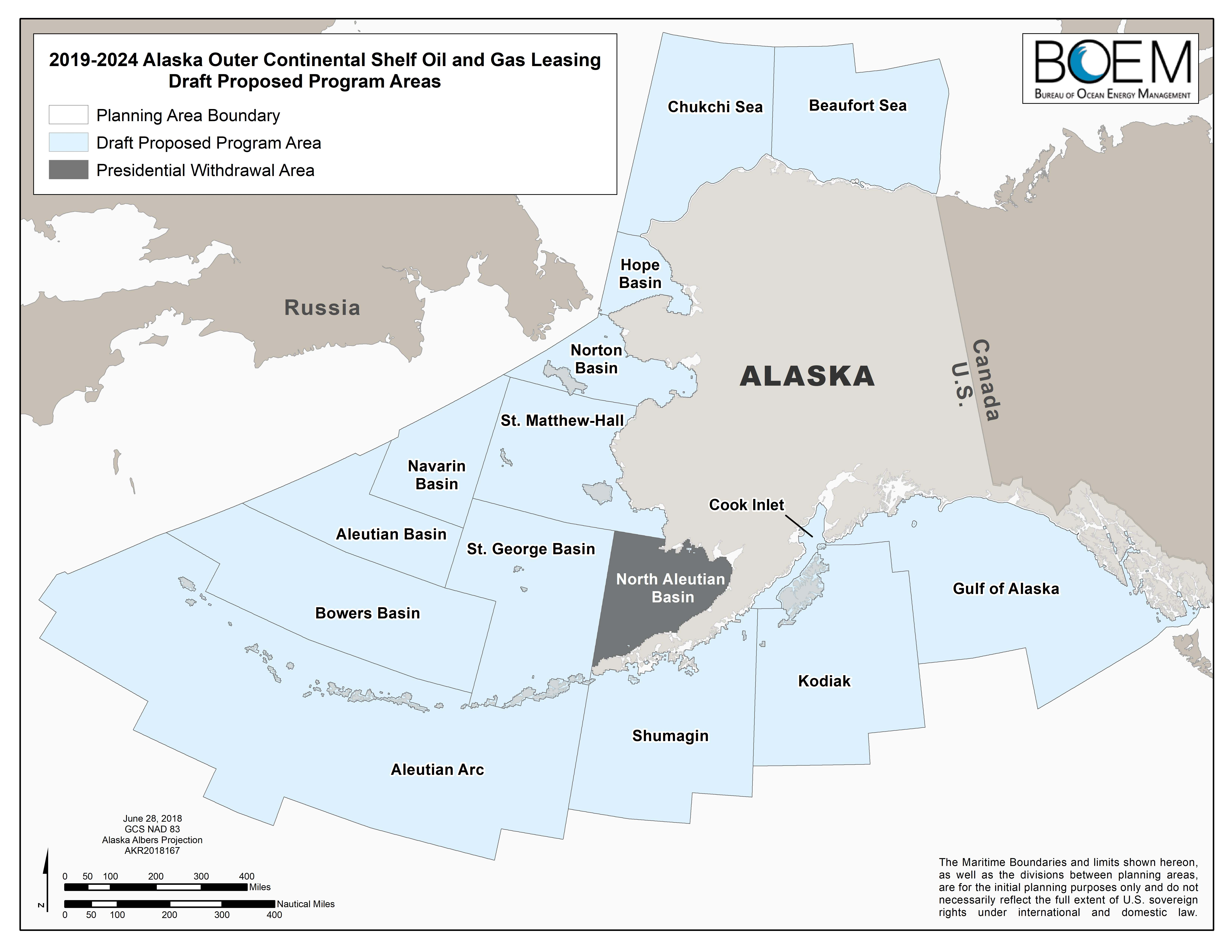 2019-2024 Alaska Outer Continental Shelf Oil and Gas Leasing Draft Proposed Program Areas