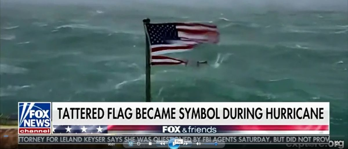 American Flag Survives The Winds Of Hurricane Florence Then Sells