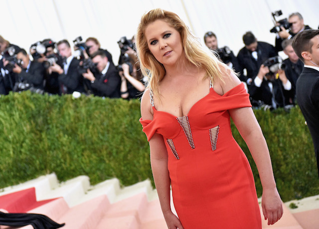 "Amy Schumer attends the ""Manus x Machina: Fashion In An Age Of Technology"" Costume Institute Gala at Metropolitan Museum of Art on May 2, 2016 in New York City. (Photo by Mike Coppola/Getty Images for People.com)"