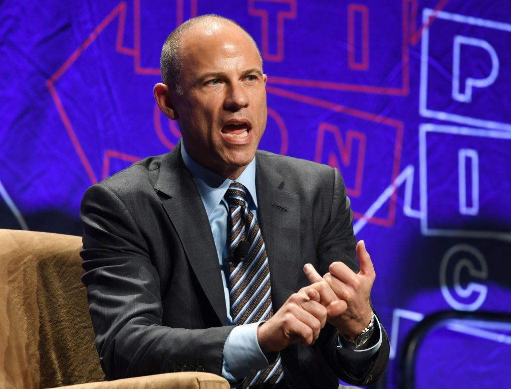Attorney Michael Avenatti speaks at the 'How to Beat Trump' panel at the 2018 Politicon in Los Angeles, California on October 20, 2018. (MARK RALSTON/AFP/Getty Images)