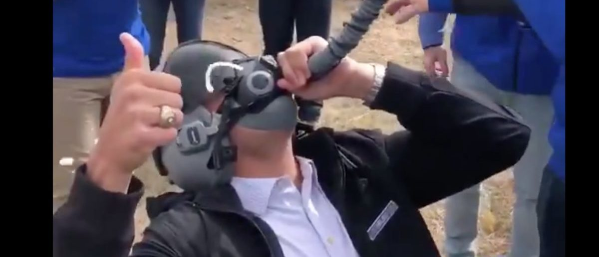 Man Does Beer Bong Out Of Fighter Jet Pilot's Mask — This Is What America Is All About