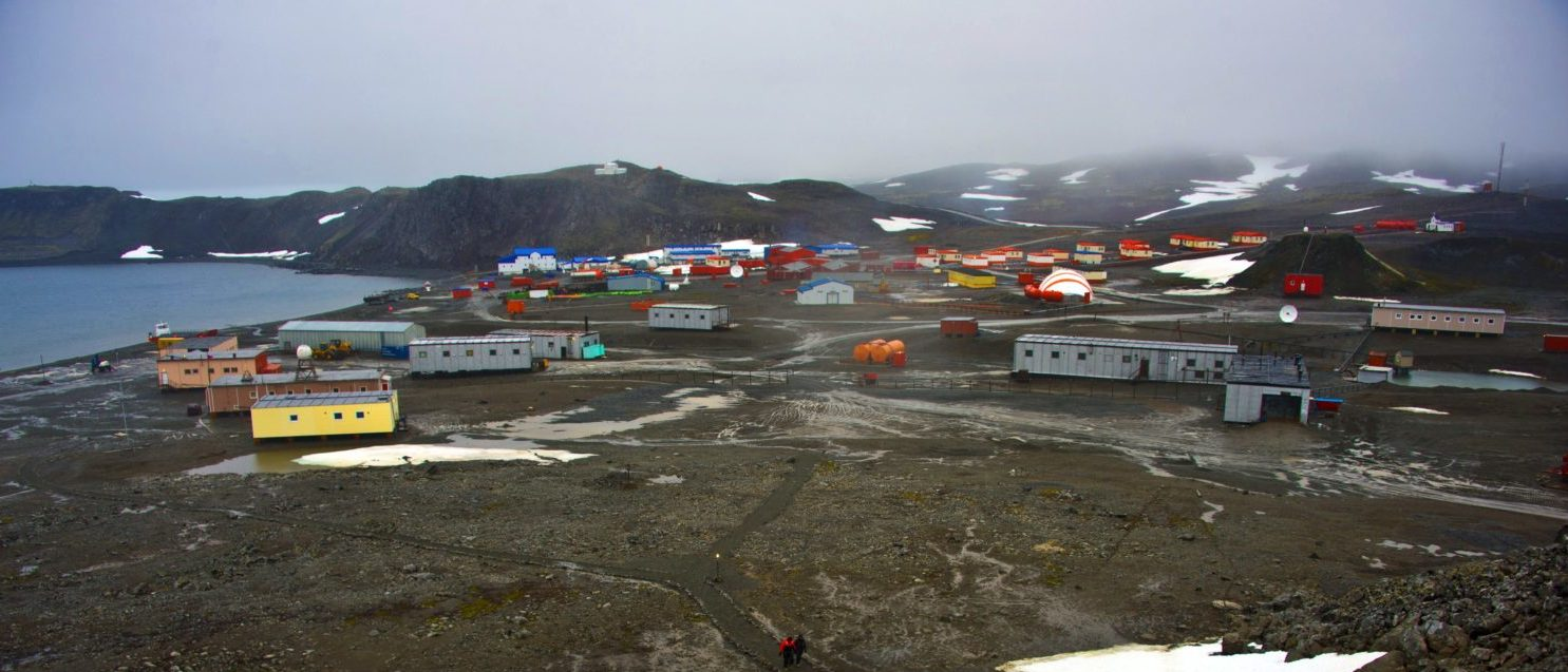 The Russian Bellingshausen Station in Antartica, on March 11, 2014. (VANDERLEI ALMEIDA/AFP/Getty Images)