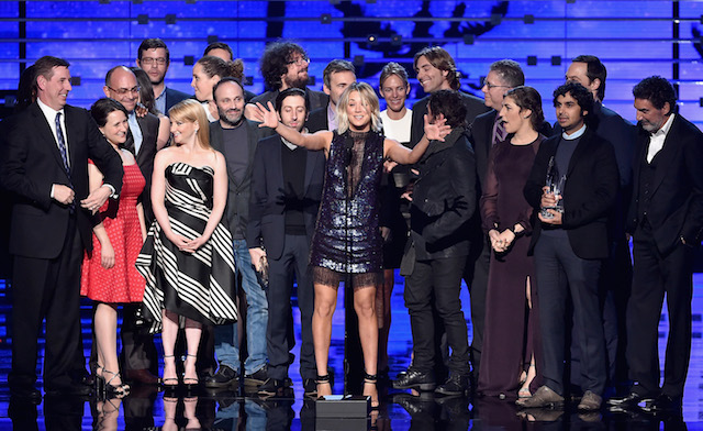 Big Bang Theory onstage during the People's Choice Awards 2016 at Microsoft Theater on January 6, 2016 in Los Angeles, California. (Photo: Getty Images)