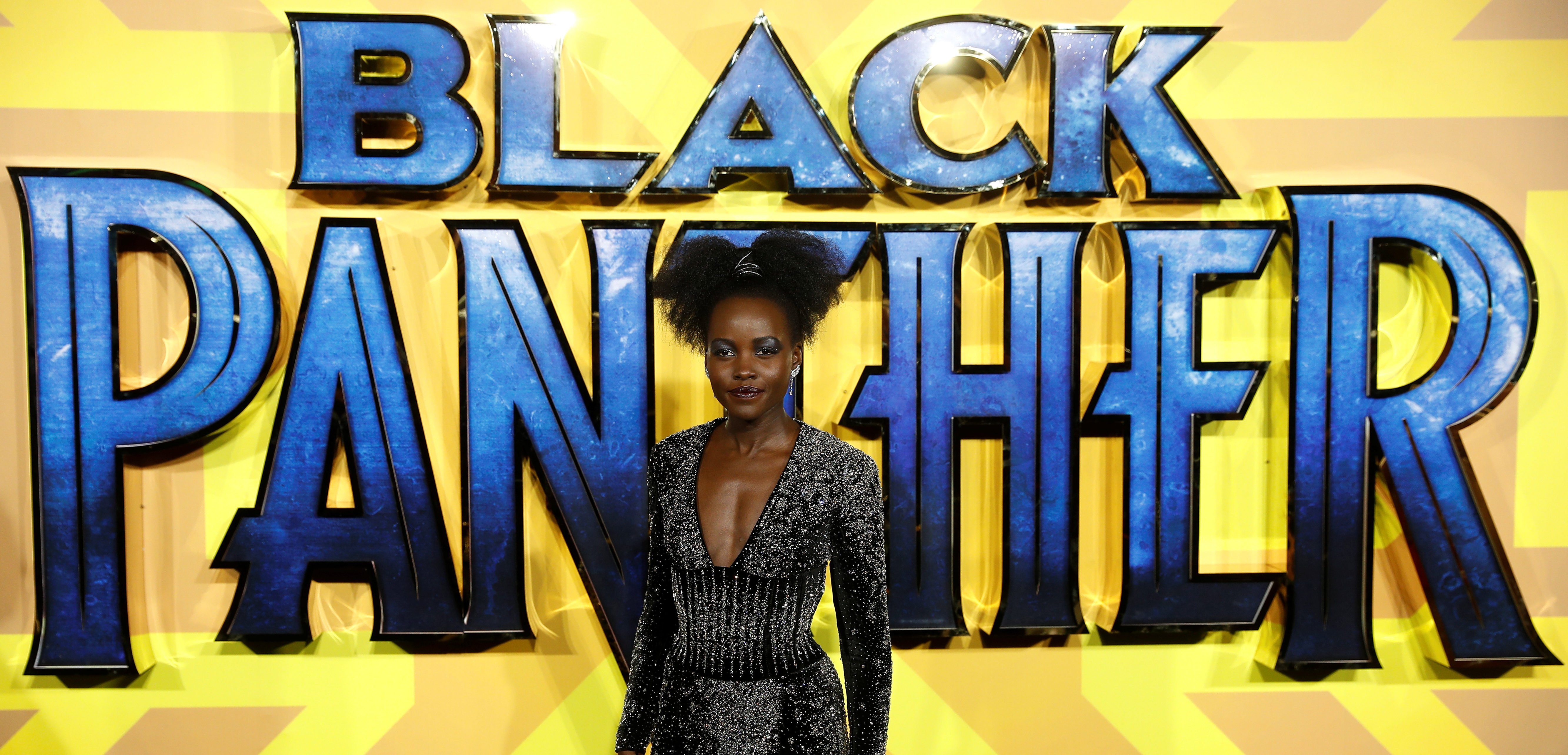 Actor Lupita Nyong'o arrives at the premiere of the new Marvel superhero film 'Black Panther' in London, Britain February 8, 2018. REUTERS/Peter Nicholls