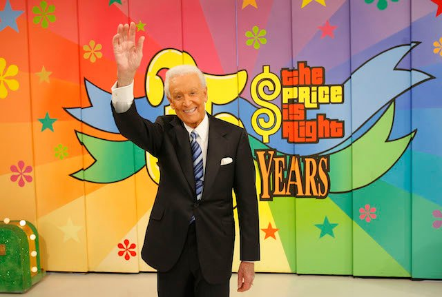 "Television host Bob Barker poses for photographers at his last taping of ""The Price is Right"" show at the CBS Television City Studios on June 6, 2007 in Los Angeles California. Barker has been the host of the ""The Price is Right"" for 35 years. (Photo by Mark Davis/Getty Images)"