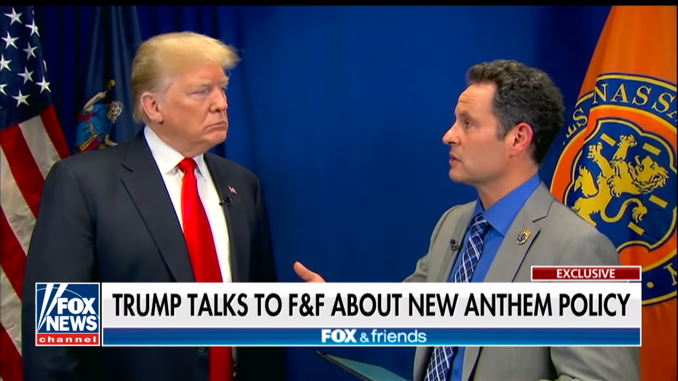 Brian Kilmeade Interviews President Trump About NFL Policy -- Screenshot - Fox News 05-24-18