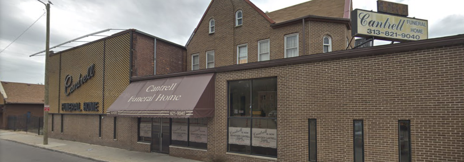 The Cantrell Funeral Home in Detroit. (Screenshot/Google Maps)