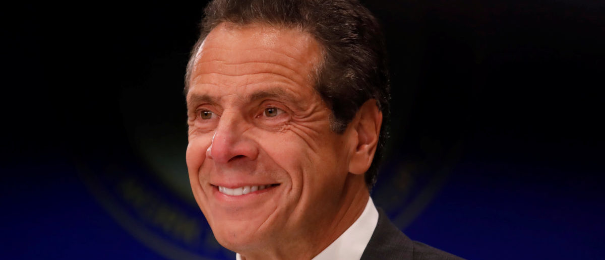 New York Governor Andrew Cuomo smiles during a news conference in New York, U.S., September 14, 2018. REUTERS/Shannon Stapleton