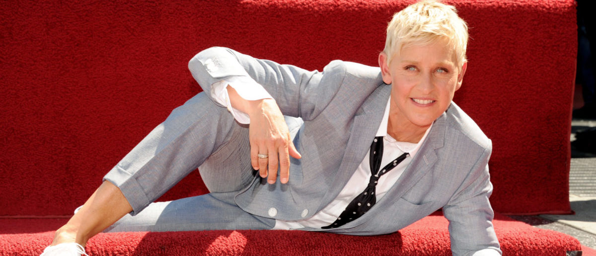 Comedienne/talk show host Ellen DeGeneres is honored with a star on the Hollywood Walk of Fame on September 4, 2012 in Los Angeles, California. (Photo by Kevin Winter/Getty Images)