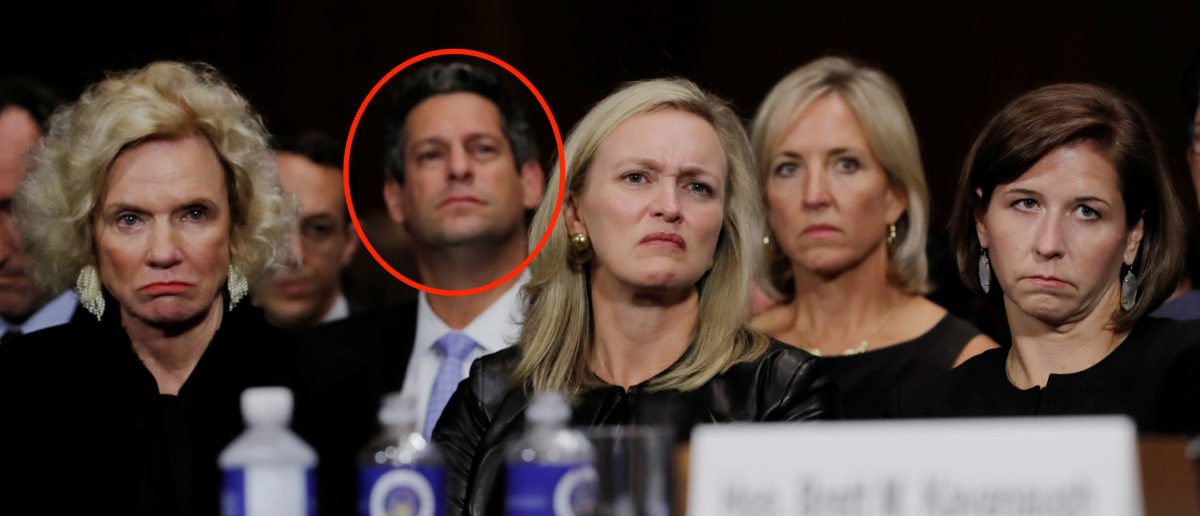 Facebook's Vice President of Public Policy Joel Kaplan (3rd from L) listens to Kavanaugh testify before a Senate Judiciary Committee confirmation hearing on Capitol Hill in Washington, U.S., September 27, 2018. Photo: REUTERS/Jim Bourg