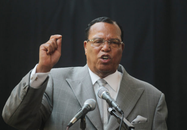 NEW YORK, NY - JUNE 15: Minister Louis Farrakhan, leader of the Nation of Islam, speaks at a press conference near United Nations headquarters on June 15, 2011 in New York City. (Photo by Mario Tama/Getty Images)