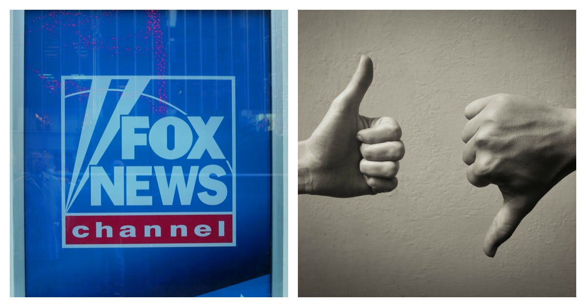 A professor apologized for giving students a paper that suggested they block Fox News. Left, SHUTTERSTOCK/Leonard Zhukovsky/ Right, SHUTTERSTOCK/ KieferPix