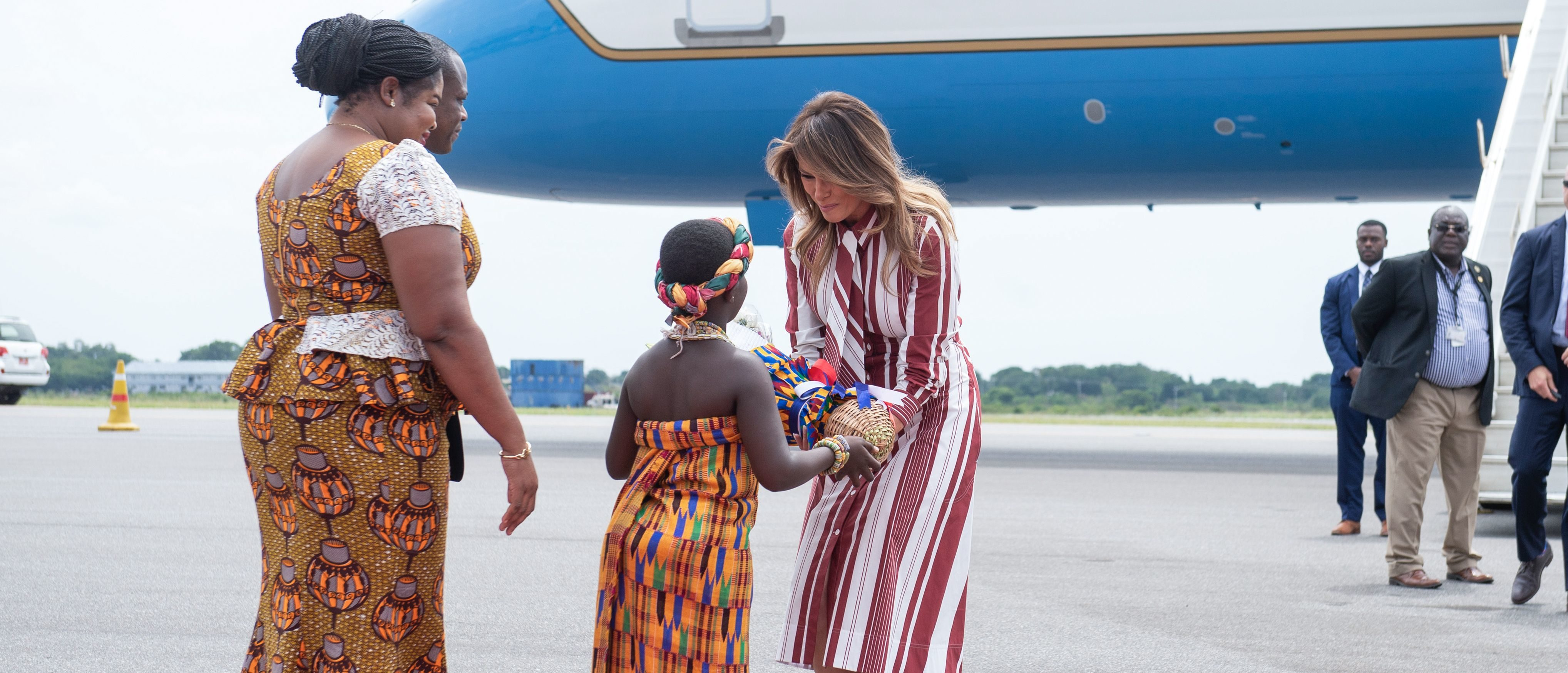 Melania Embarks On First Solo Trip To Africa | The Daily ...