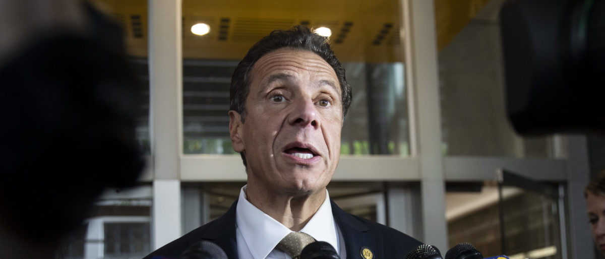 New York Governor Andrew Cuomo speaks about a suspicious package situation at his office in Midtown Manhattan, October 24, 2018 in New York City. Drew Angerer/Getty Images