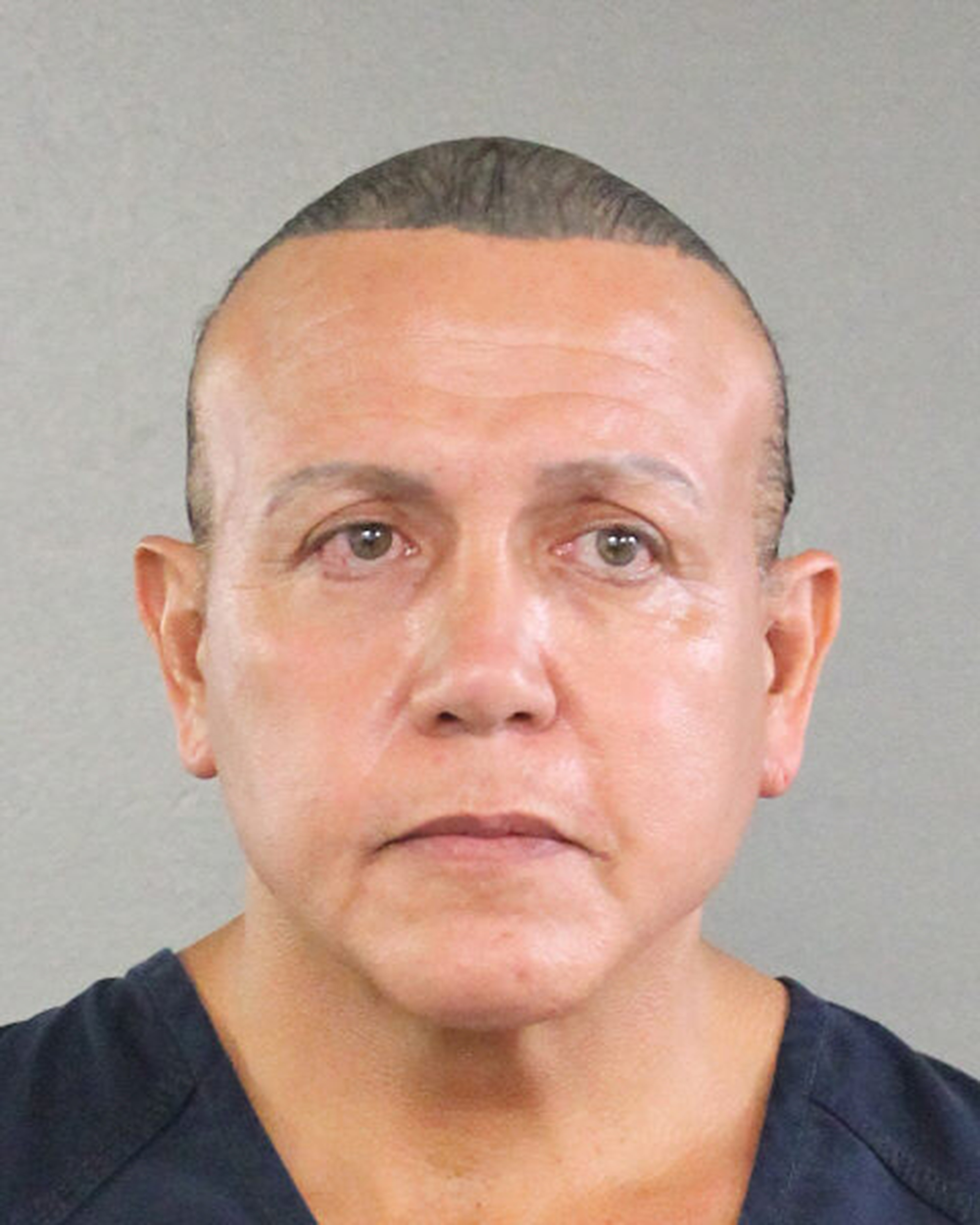 In this undated handout provided by the Broward County Sheriff's Office, Cesar Sayoc poses for a mugshot photo in Miami, Florida. Broward County Sheriff's Office via Getty Images