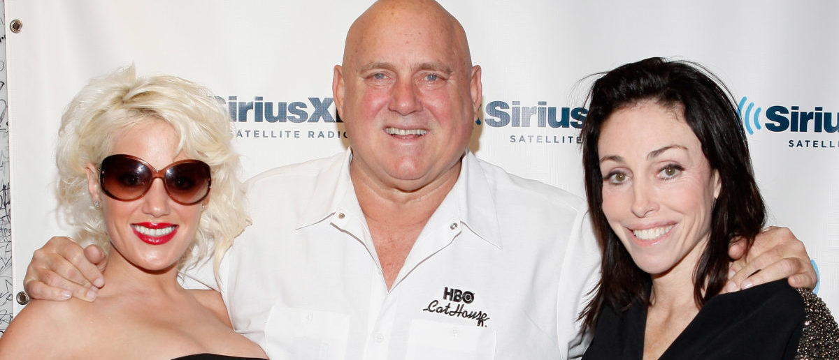 (L-R) Cami Parker, Dennis Hof, and Heidi Fleiss visit SiriusXM Studio on November 16, 2011 in New York City. Cindy Ord/Getty Images