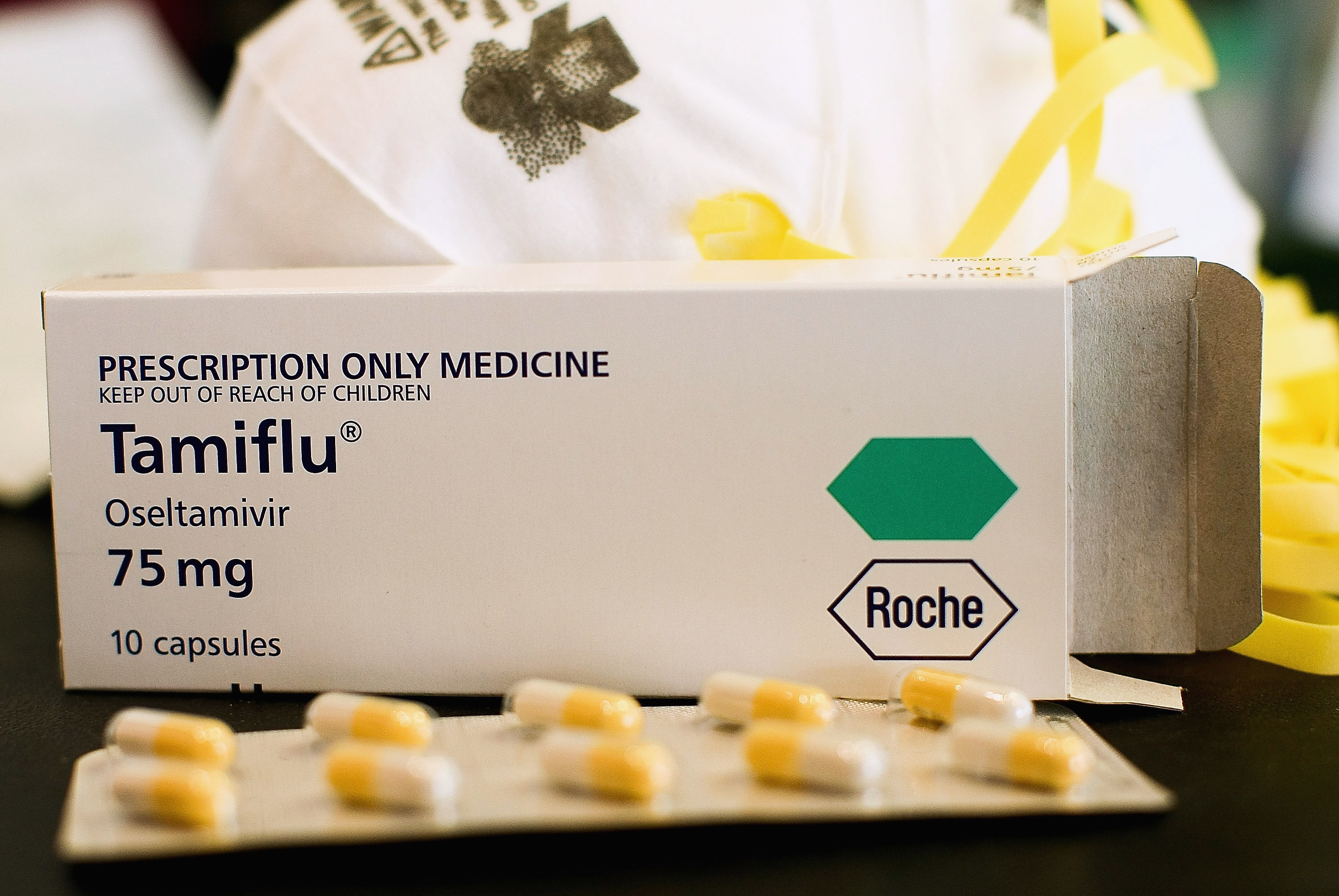 Anti-influenza virus medicine Tamiflu capsules are displayed at a City Med pharmacy on April 28, 2009 in Auckland, New Zealand. Hannah Peters/Getty Images