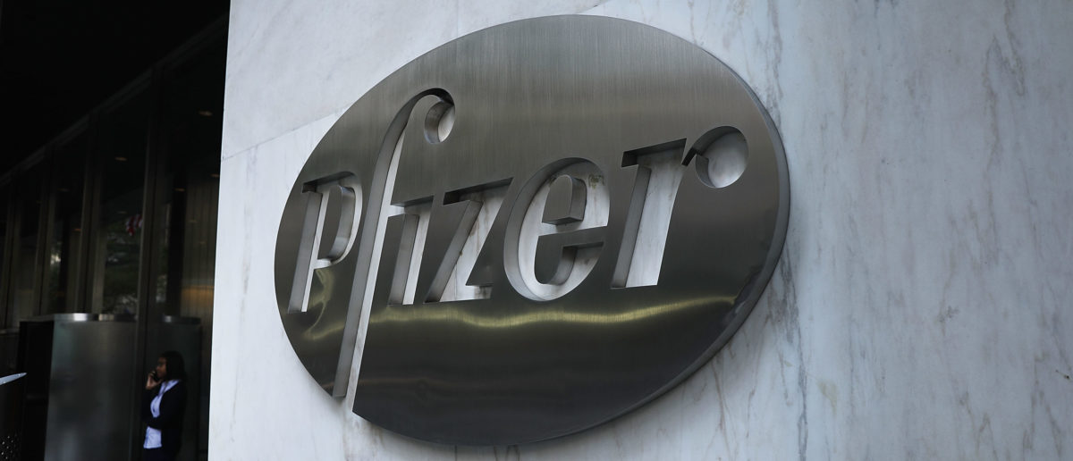 The Pfizer headquarters is seen in Manhattan on July 11, 2018 in New York City. A day after President Donald Trump pressured the pharmaceutical giant with a critical tweet, Pfizer has agreed to reverse or postpone drug price hikes. Photo by Spencer Platt/Getty Images