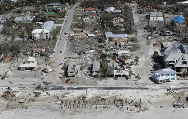 Aerial photo shows homes destroyed after Hurricane Michael smashed into Florida's northwest coast in Mexico Beach