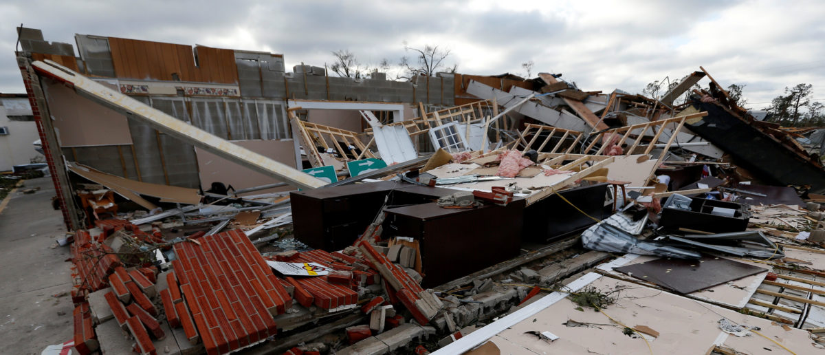 Buildings damaged by Hurricane Michael are seen in Panama City, Florida, U.S. October 11, 2018. REUTERS/Jonathan Bachman - RC149AA76000