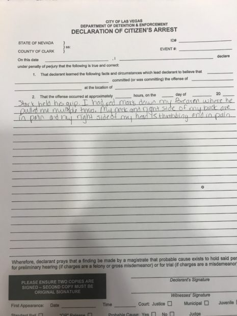 Kristin Davison police report (Photo obtained by TheDCNF)