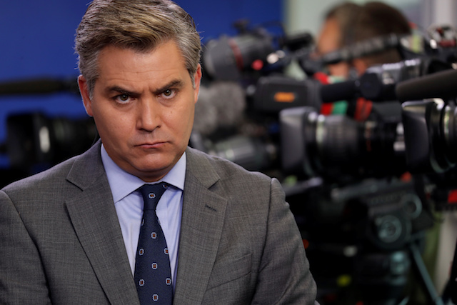 CNN White House correspondent Jim Acosta attends a press briefing at the White House in Washington, D.C., U.S., August 2, 2018. REUTERS/Carlos Barria