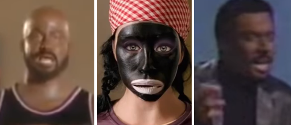 Jimmy Kimmel Jimmy Fallon Sarah Silverman blackface (screengrabs)